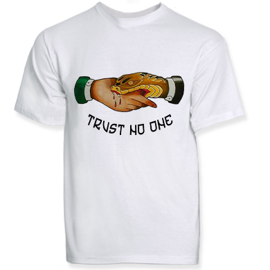 T-shirt TRUST NO ONE